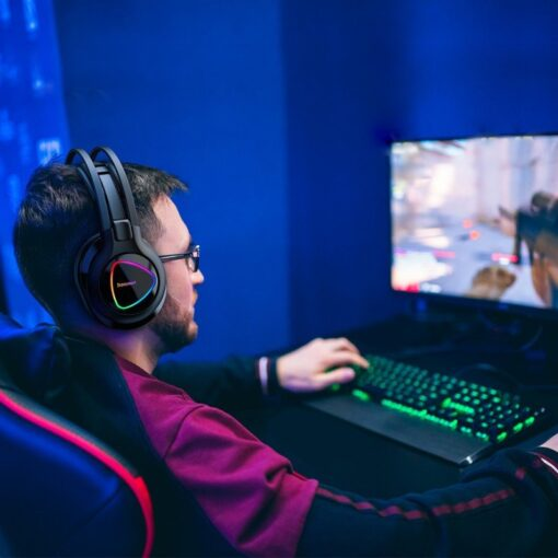 Tronsmart Glary Alpha Gaming RGB korvaklapid mikrofoni ja juhtpuldiga 3.5mm liides 11