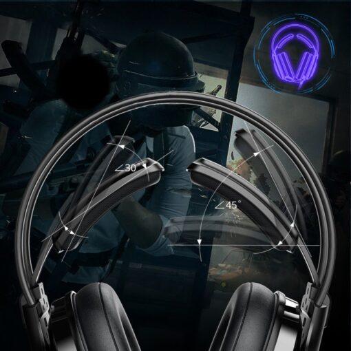 Tronsmart Glary Alpha Gaming RGB korvaklapid mikrofoni ja juhtpuldiga 3.5mm liides 12