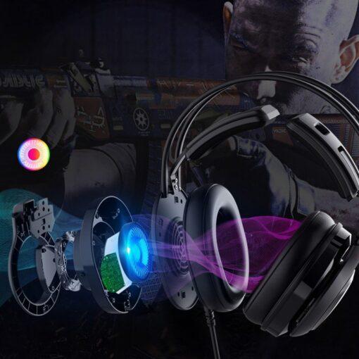 Tronsmart Glary Alpha Gaming RGB korvaklapid mikrofoni ja juhtpuldiga 3.5mm liides 3