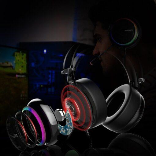 Tronsmart Glary Gaming RGB korvaklapid mikrofoni ja juhtpuldiga USB liides 2