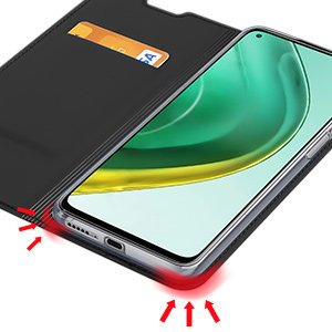 Xiaomi Mi 10T Pro Mi 10T kunstnahast kaaned DUX DUCIS Skin Pro Bookcase must 11