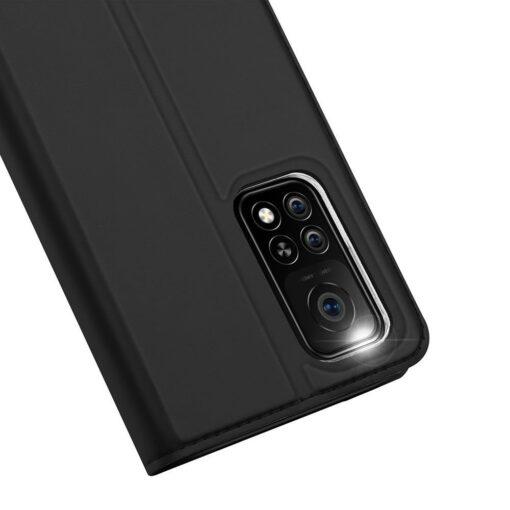 Xiaomi Mi 10T Pro Mi 10T kunstnahast kaaned DUX DUCIS Skin Pro Bookcase must 3