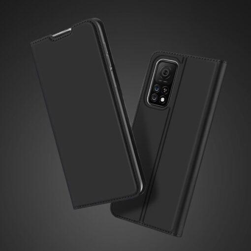 Xiaomi Mi 10T Pro Mi 10T kunstnahast kaaned DUX DUCIS Skin Pro Bookcase must 9