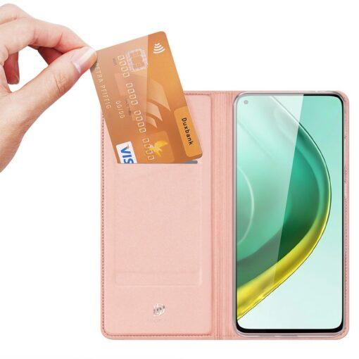 Xiaomi Mi 10T Pro Mi 10T kunstnahast kaaned DUX DUCIS Skin Pro Bookcase roosa 1