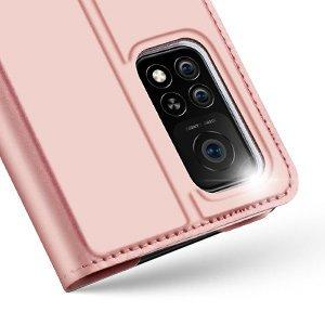 Xiaomi Mi 10T Pro Mi 10T kunstnahast kaaned DUX DUCIS Skin Pro Bookcase roosa 12