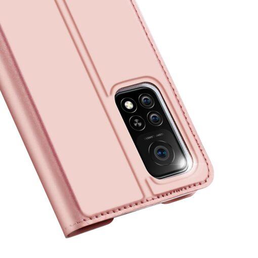 Xiaomi Mi 10T Pro Mi 10T kunstnahast kaaned DUX DUCIS Skin Pro Bookcase roosa 2