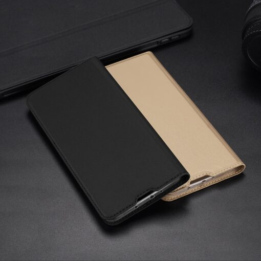 Xiaomi Mi 10T Pro Mi 10T kunstnahast kaaned DUX DUCIS Skin Pro Bookcase roosa 23