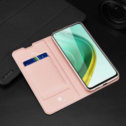 Xiaomi Mi 10T Pro Mi 10T kunstnahast kaaned DUX DUCIS Skin Pro Bookcase roosa 26