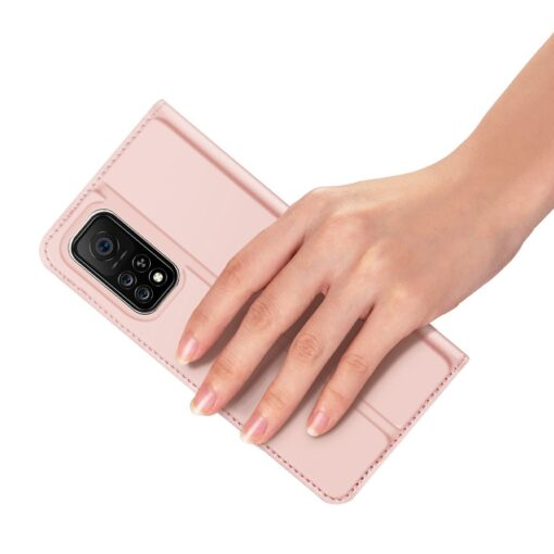 Xiaomi Mi 10T Pro Mi 10T kunstnahast kaaned DUX DUCIS Skin Pro Bookcase roosa 6