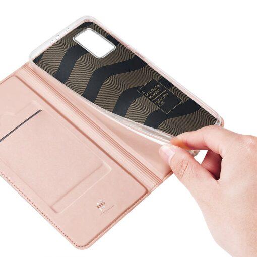 Xiaomi Mi 10T Pro Mi 10T kunstnahast kaaned DUX DUCIS Skin Pro Bookcase roosa 7