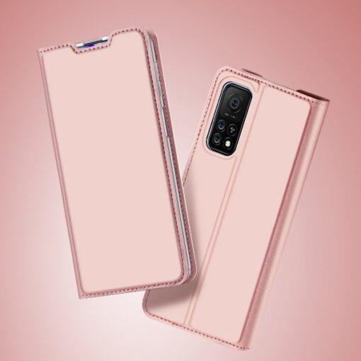 Xiaomi Mi 10T Pro Mi 10T kunstnahast kaaned DUX DUCIS Skin Pro Bookcase roosa 9