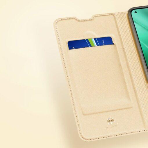 Xiaomi Mi 10T Pro Mi 10T kunstnahast kaaned DUX DUCIS Skin Pro Bookcase sinine 16