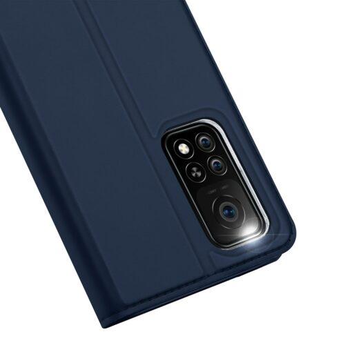 Xiaomi Mi 10T Pro Mi 10T kunstnahast kaaned DUX DUCIS Skin Pro Bookcase sinine 2