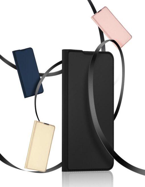 Xiaomi Mi 10T Pro Mi 10T kunstnahast kaaned DUX DUCIS Skin Pro Bookcase sinine 22