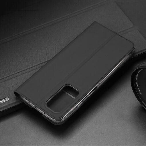 Xiaomi Mi 10T Pro Mi 10T kunstnahast kaaned DUX DUCIS Skin Pro Bookcase sinine 23