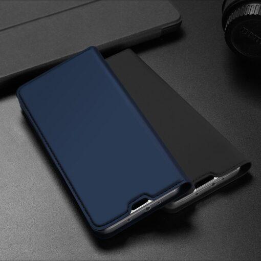 Xiaomi Mi 10T Pro Mi 10T kunstnahast kaaned DUX DUCIS Skin Pro Bookcase sinine 25