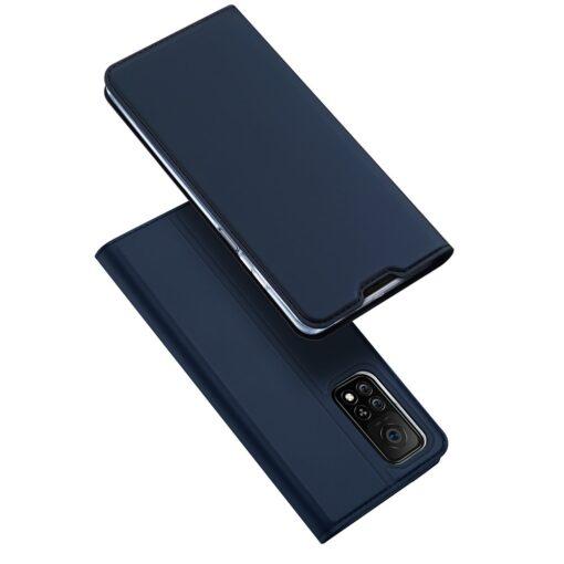 Xiaomi Mi 10T Pro Mi 10T kunstnahast kaaned DUX DUCIS Skin Pro Bookcase sinine