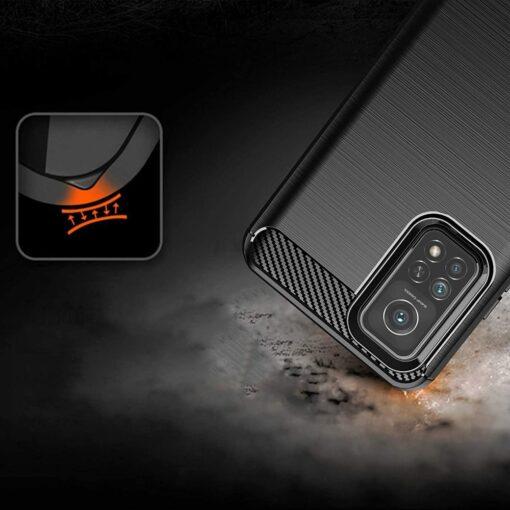 Xiaomi Mi 10T ja Mi 10T Pro umbris silikoonist Carbon sinine 5