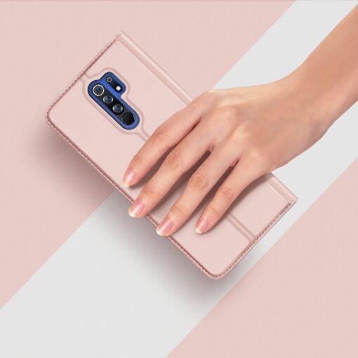 Xiaomi Redmi 9 kunstnahast kaaned DUX DUCIS Skin Pro Bookcase roosa 10