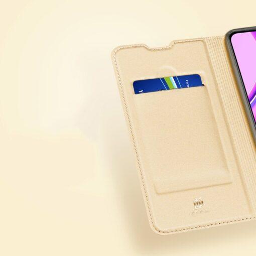 Xiaomi Redmi 9 kunstnahast kaaned DUX DUCIS Skin Pro Bookcase roosa 12