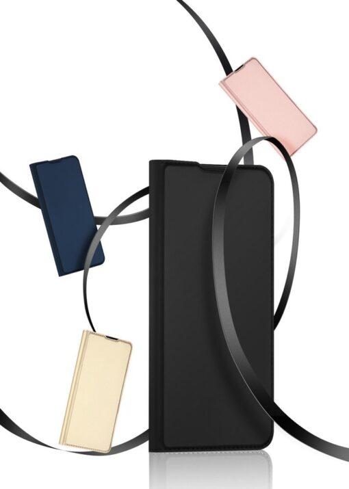 Xiaomi Redmi 9 kunstnahast kaaned DUX DUCIS Skin Pro Bookcase roosa 18
