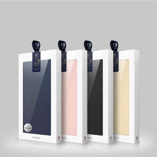 Xiaomi Redmi 9 kunstnahast kaaned DUX DUCIS Skin Pro Bookcase roosa 23