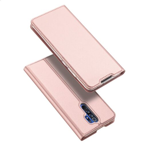 Xiaomi Redmi 9 kunstnahast kaaned DUX DUCIS Skin Pro Bookcase roosa