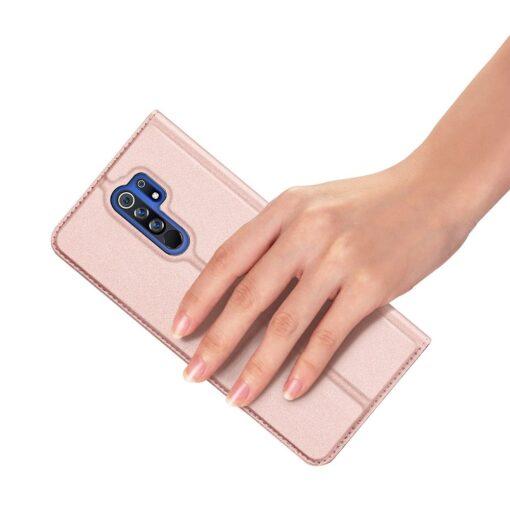 Xiaomi Redmi 9 kunstnahast kaaned DUX DUCIS Skin Pro Bookcase roosa 6