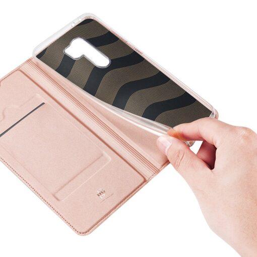 Xiaomi Redmi 9 kunstnahast kaaned DUX DUCIS Skin Pro Bookcase roosa 7