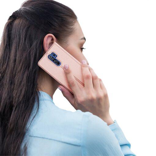 Xiaomi Redmi 9 kunstnahast kaaned DUX DUCIS Skin Pro Bookcase roosa 8