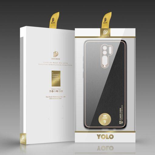 Xiaomi Redmi 9 umbris Dux Ducis Yolo elegant kunstnahast ja silikoonist servadega must 11