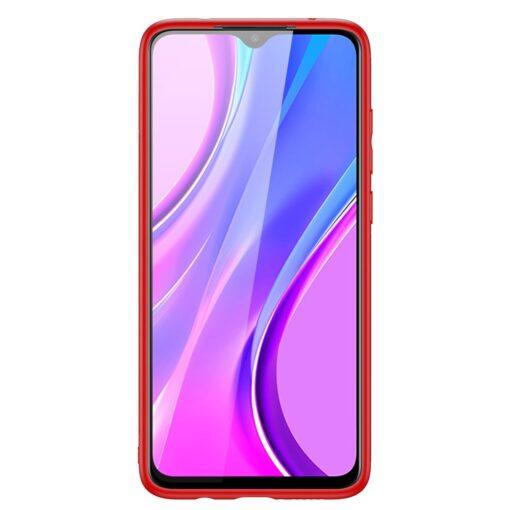 Xiaomi Redmi 9 umbris Dux Ducis Yolo elegant kunstnahast ja silikoonist servadega punane 1