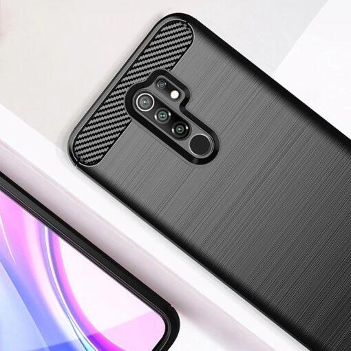 Xiaomi Redmi 9 umbris silikoonist Carbon must 1