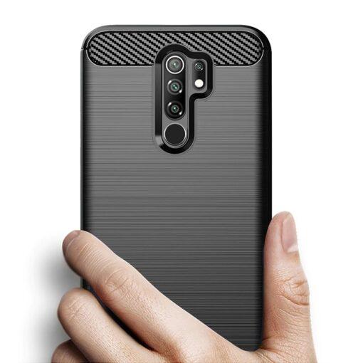 Xiaomi Redmi 9 umbris silikoonist Carbon must 3