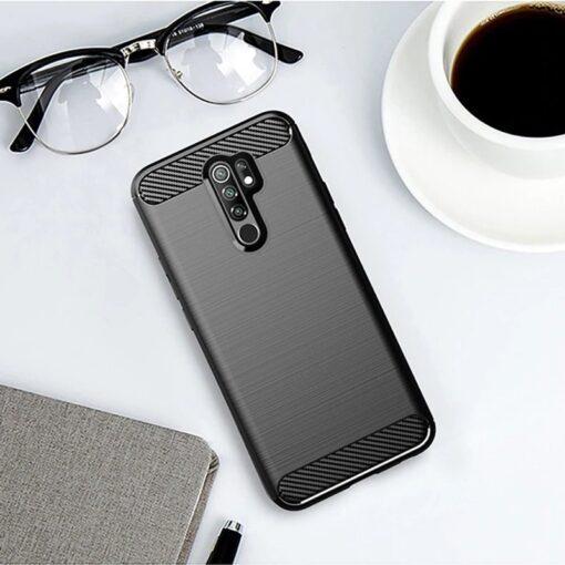 Xiaomi Redmi 9 umbris silikoonist Carbon must 4