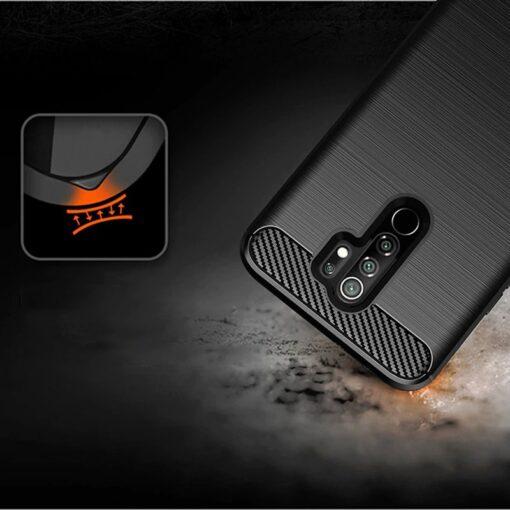Xiaomi Redmi 9 umbris silikoonist Carbon must 5