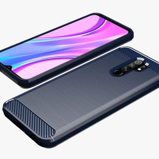 Xiaomi Redmi 9 umbris silikoonist Carbon must 6