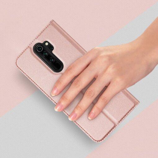 Xiaomi Redmi Note 8 Pro kunstnahast kaaned DUX DUCIS Skin Pro Bookcase roosa 1