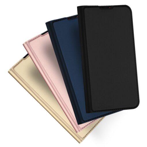 Xiaomi Redmi Note 8 Pro kunstnahast kaaned DUX DUCIS Skin Pro Bookcase roosa 11