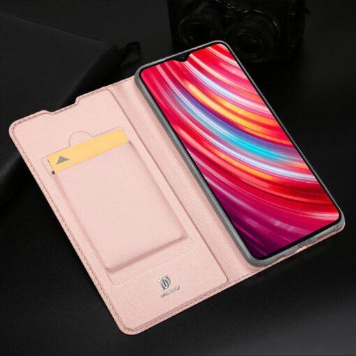 Xiaomi Redmi Note 8 Pro kunstnahast kaaned DUX DUCIS Skin Pro Bookcase roosa 13