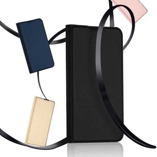 Xiaomi Redmi Note 8 Pro kunstnahast kaaned DUX DUCIS Skin Pro Bookcase roosa 17