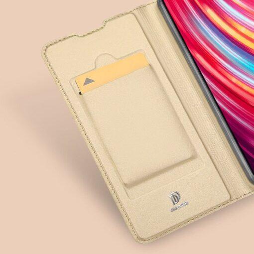 Xiaomi Redmi Note 8 Pro kunstnahast kaaned DUX DUCIS Skin Pro Bookcase roosa 18