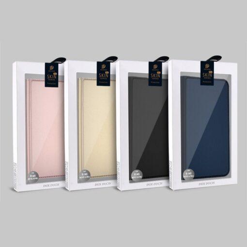 Xiaomi Redmi Note 8 Pro kunstnahast kaaned DUX DUCIS Skin Pro Bookcase roosa 19