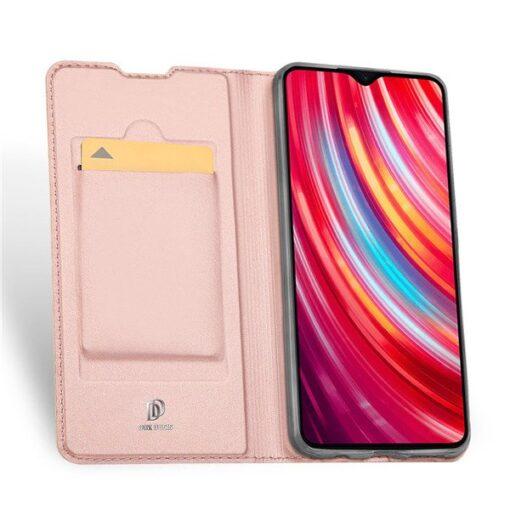 Xiaomi Redmi Note 8 Pro kunstnahast kaaned DUX DUCIS Skin Pro Bookcase roosa 3