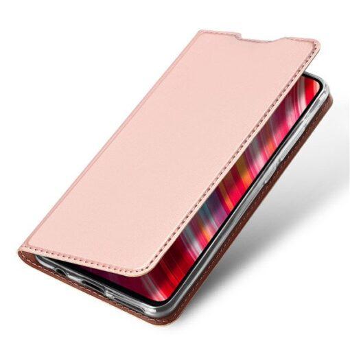 Xiaomi Redmi Note 8 Pro kunstnahast kaaned DUX DUCIS Skin Pro Bookcase roosa 4