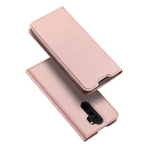 Xiaomi Redmi Note 8 Pro kunstnahast kaaned DUX DUCIS Skin Pro Bookcase roosa