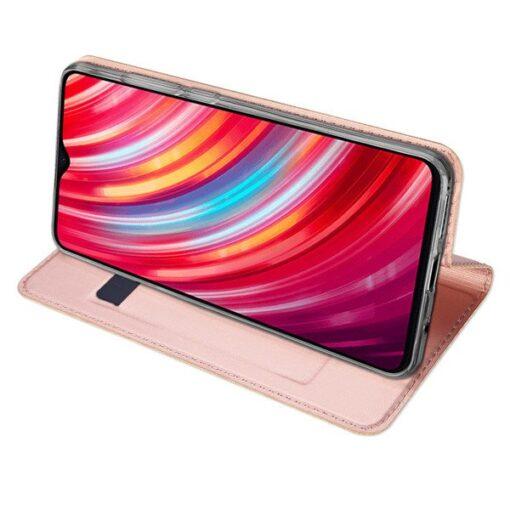 Xiaomi Redmi Note 8 Pro kunstnahast kaaned DUX DUCIS Skin Pro Bookcase roosa 6