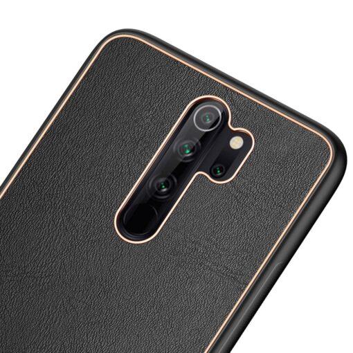 Xiaomi Redmi Note 8 umbris Dux Ducis Yolo elegant kunstnahast ja silikoonist servadega must 3