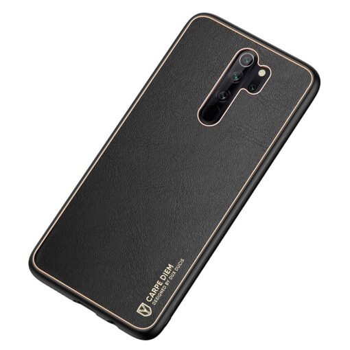 Xiaomi Redmi Note 8 umbris Dux Ducis Yolo elegant kunstnahast ja silikoonist servadega must 5