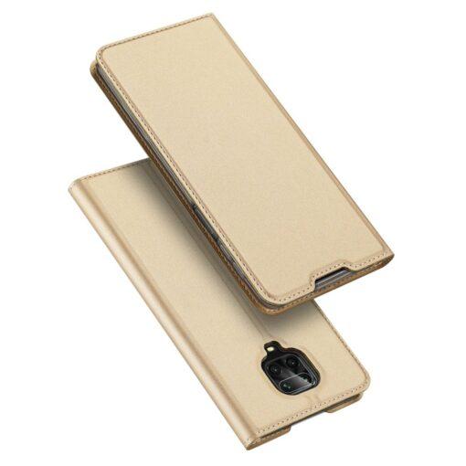 Xiaomi Redmi Note 9 Pro kunstnahast kaaned DUX DUCIS Skin Pro Bookcase kuldne